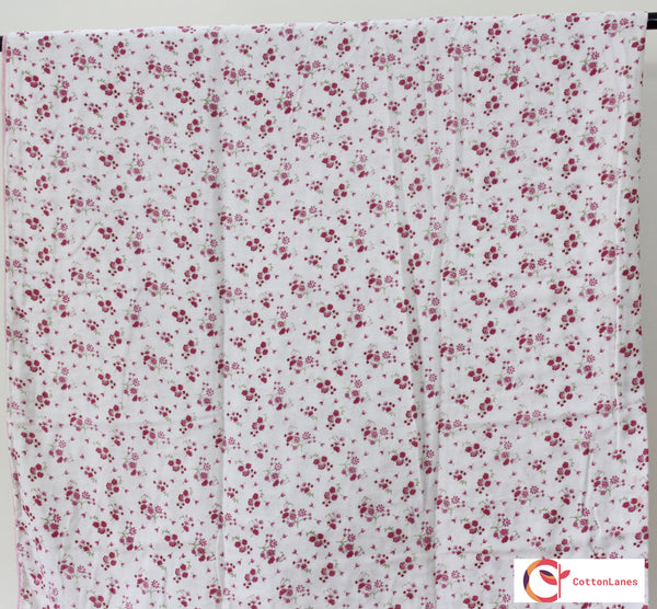 Pink Fields Double Bed Reversible Comforter-CottonLanes