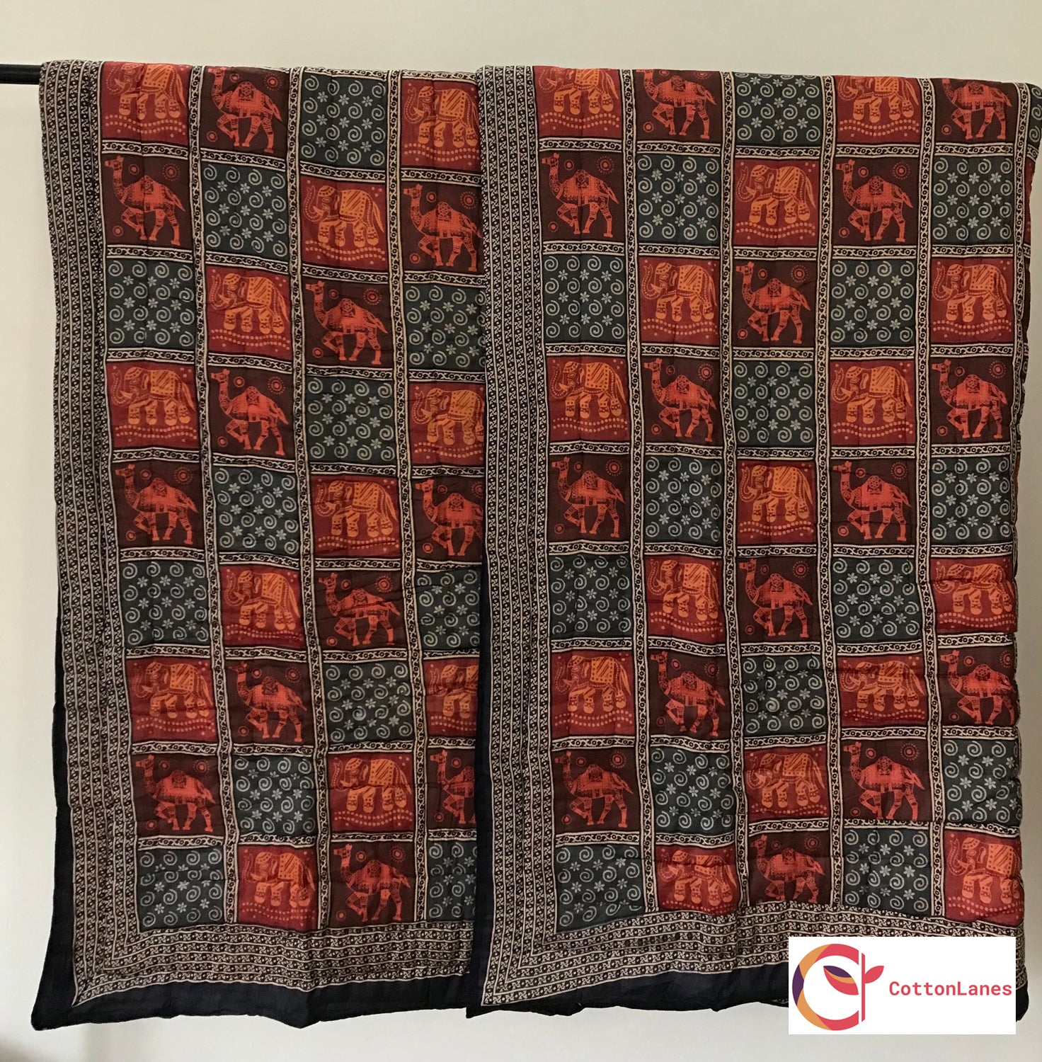Rajasthan Pride Double Bed Quilt-CottonLanes