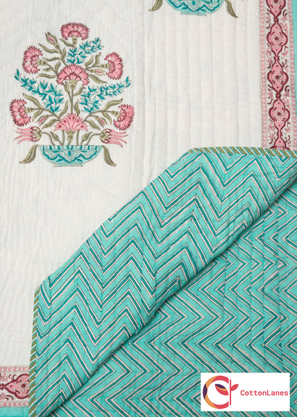 The Pink Tiara Quilt-Quilts-CottonLanes