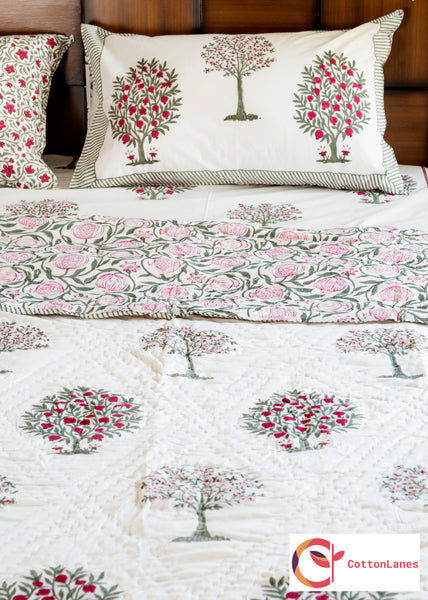 Vitamin C Double Bed Reversible Quilt-CottonLanes