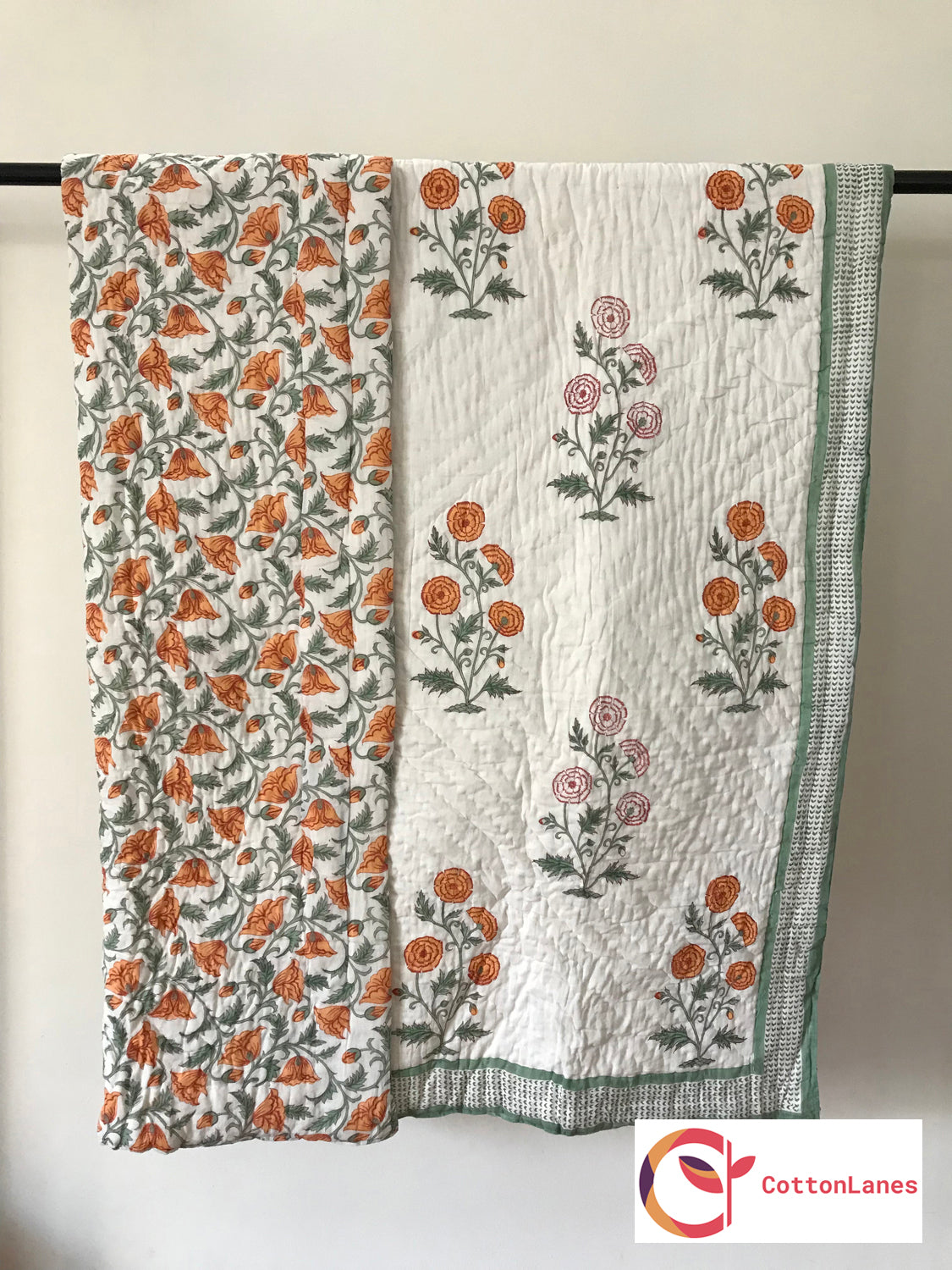 Winter Marigold Single Bed Quilt-Quilts-CottonLanes