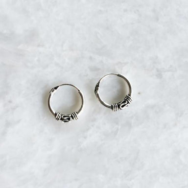 10mm plain bali hoop earrings - Earrings