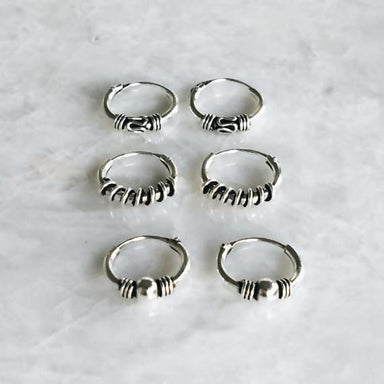 10mm tiny silver hoop earrings - Earrings