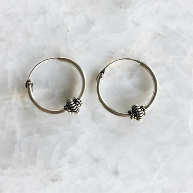 15mm dangle bali hoop earrings - Earrings
