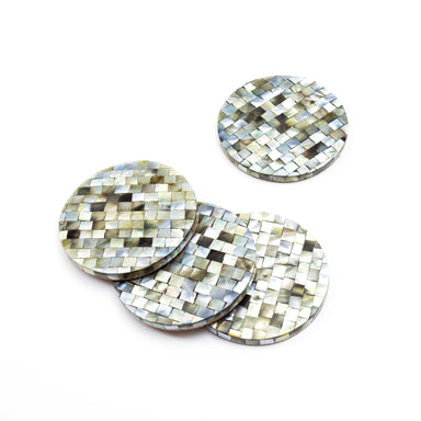 Natural Black Pearl - Mosaic Coasters | LIKHÂ