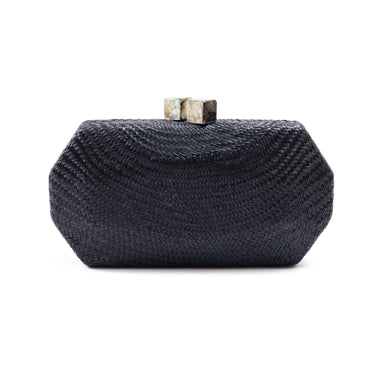 Black Woven Clutch - Handwoven Clutch | LIKHÂ