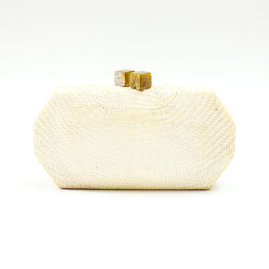 White Woven Clutch - Handwoven Clutch - LIKHÂ