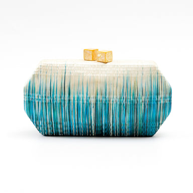 Teal Clutch Bag - Handmade Clutch | LIKHÂ