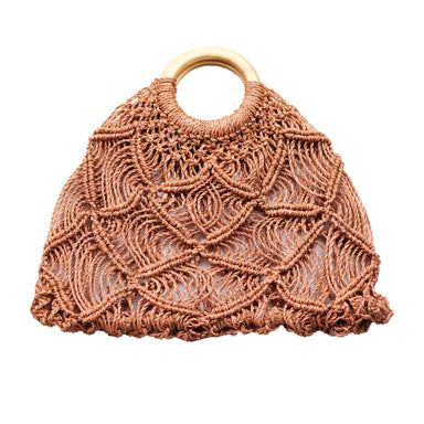 Macramé Handbag, Dusty Rose | LIKHÂ