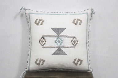 White Cactus Silk Inspired 20 X 20 Linen Pillow Cover