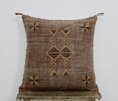 Sabra Silk Inspired Handmade Linen Pillow Cover 20 X 20