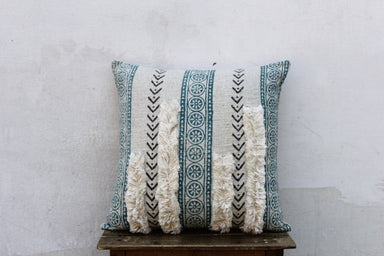 Multi Color Hand Block Printed Cotton Bohemian Pillow Cover 18 X 18
