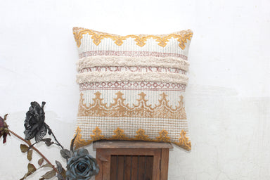 Handmade Indian Dhurrie 20 X 20 Hand Block Printed Pillow Cover