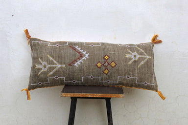 Rustic Cactus Silk inspired Linen Pillow Cover 12X28