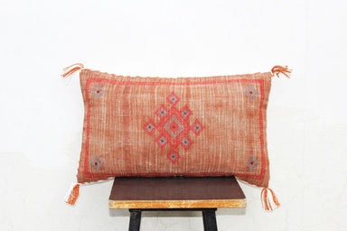 Moroccan Silk Inspired Linen Rustic Pillow Cover 12 X 20