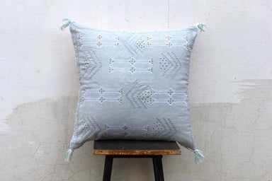 Sky Blue Color Handmade Cotton 20 X 20 African Pillow Cover