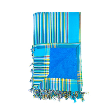 Blue and Green Stripe Kenyan Beach Towel