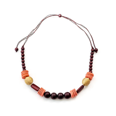 Burgundy Necklace - Artisan Necklace | LIKHÂ
