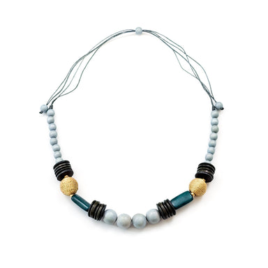 Grey Bead Necklace - Artisan Necklace | LIKHÂ