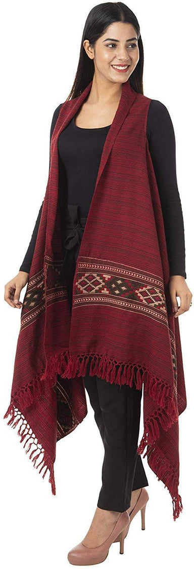 Women's Wool Cape (Red)