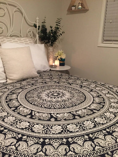 Indian Wall Hanging Hippie Mandala Tapestry Bohemian Bedspread Ethnic Dorm Decor indian tapestry psychedelic tapestry