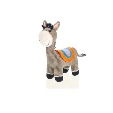 Donkey Rattle - (4 legs) Handmade with Natural Materials