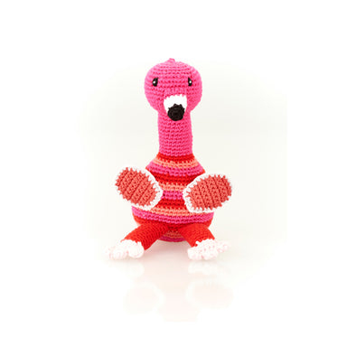 Flamingo Rattle Handmade with Natural Materials
