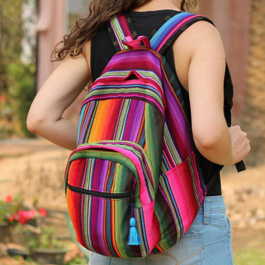 Hacienda Backpack Brightly Colored Cotton Fabric
