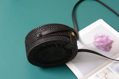 Handmade Woven Circle Shoulder Bag Female Handbags