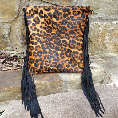 A Hair on Hide Leopard Print Leather Handbag  from Jewelry Junkie