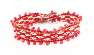 Red Glass Beaded Wristbands