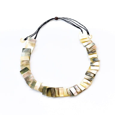 Mother of Pearl Shell Necklace - Iridescent Grey | LIKHÂ