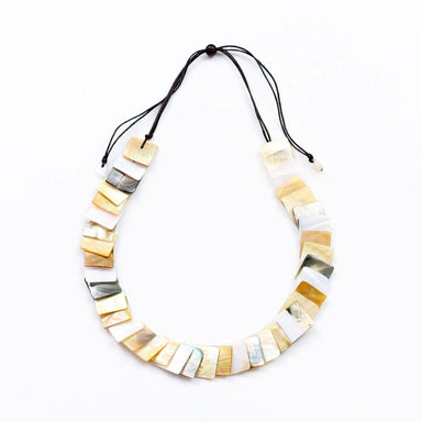 Mother of Pearl Squares Necklace - Multicolor | LIKHÂ