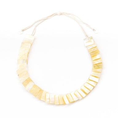 Mother of Pearl Statement Necklace - Golden Yellow | LIKHÂ