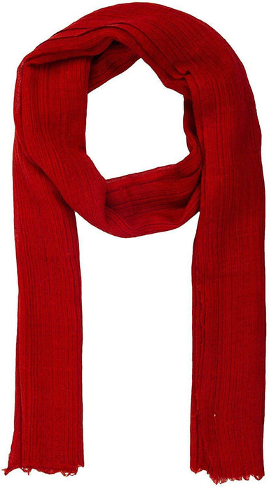 Unisex Scarf (Red Self Stripe)