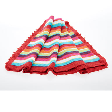 Baby Blanket - Multicolored Hand Made With Natural Materials