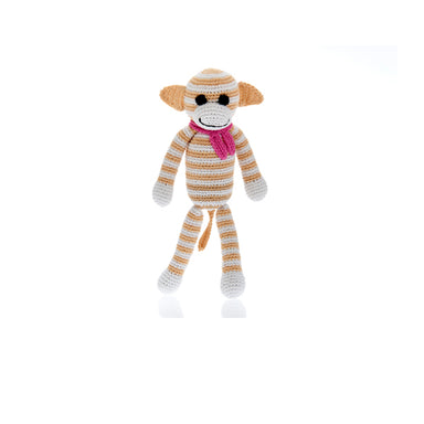 Monkey Rattle - Beige (medium) Handmade with Natural Materials