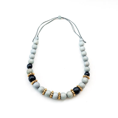 Handmade Grey Bead Necklace | LIKHÂ