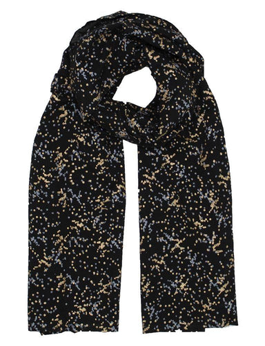 Splatter Dot Organic Woven Scarf - Passion Lilie - Fair Trade - Ethically Made Cotton