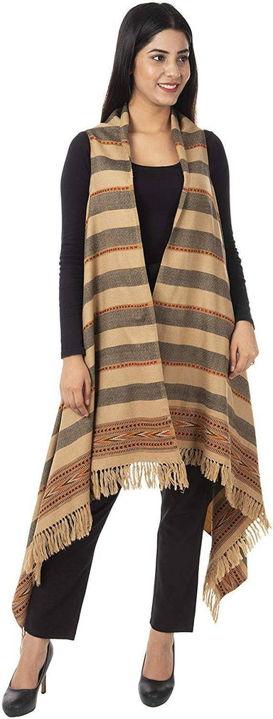 Women's Wool Cape (Beige)