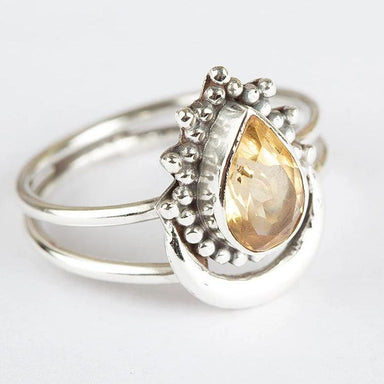 Beautiful Handmade Citrine Gemstone Ring - Rings