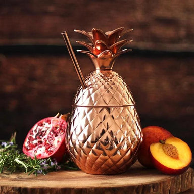 Beautiful Handmade Moscow Mule in Copper with Straw - Kitchen Decor