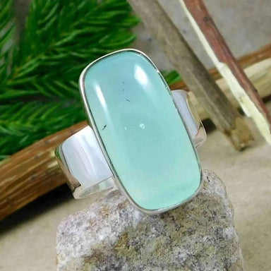 Chalcedony Gemstone Silver Ring - Rings