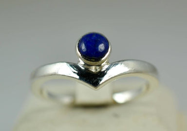 Classy Blue Gemstone Ring in Sterling Silver - Rings