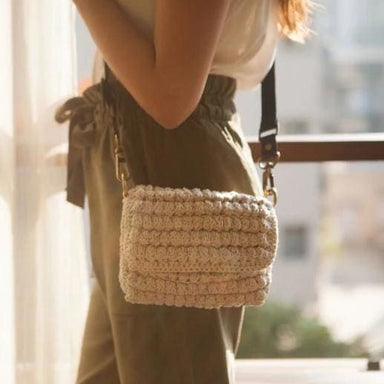 Crocheted Handbag made of Ercu Recycled Garments - Handbags