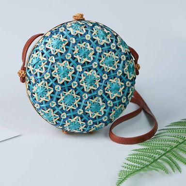 Round Straw Beach Bag Circle Rattan Bag Women Handbag
