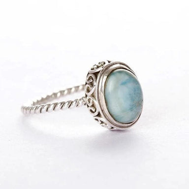 Dominican Republican Larimar Gemstone Ring - Rings