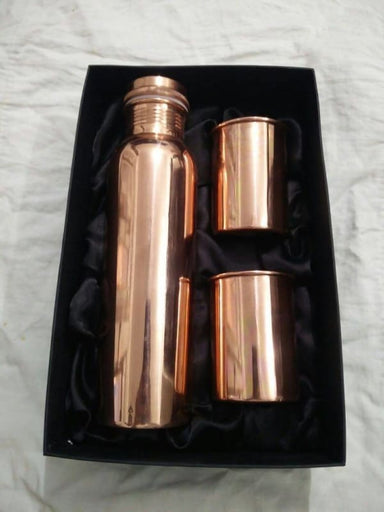 Elegant Drinking Water Bottle in Pure Copper - Kitchen Decor