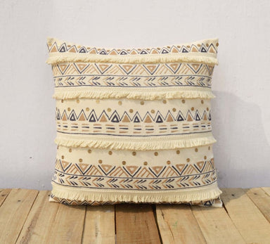 Embroidered Cream Pillow Cover in Cotton - Cushions & Pillows