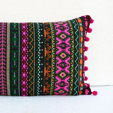 Embroidered Multicolored Pillow Cover in Acryllic - Cushions & Pillows
